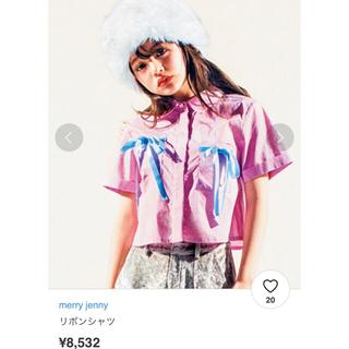 メリージェニー(merry jenny)のmerry jenny リボンシャツ(シャツ/ブラウス(半袖/袖なし))