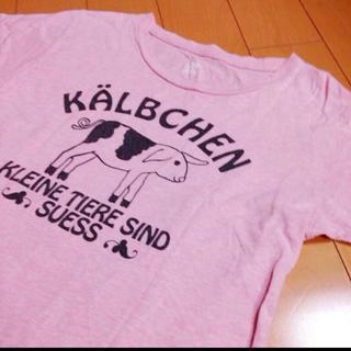 グラニフ(Design Tshirts Store graniph)のグラニフピンクピッグコットンT(Tシャツ(半袖/袖なし))
