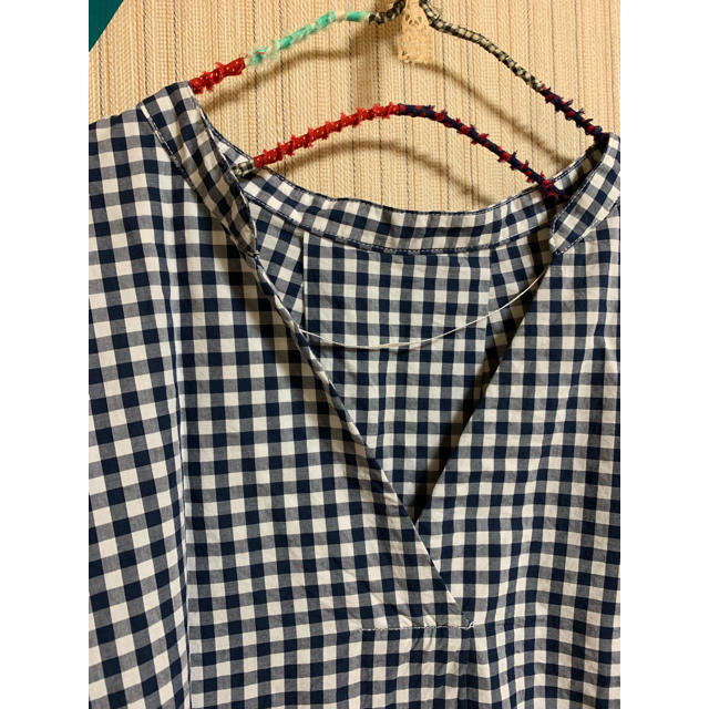 GU(ジーユー)のギンガムチェックスキッパーブラウス♡ レディースのトップス(シャツ/ブラウス(半袖/袖なし))の商品写真