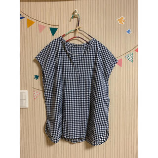 ジーユー(GU)のギンガムチェックスキッパーブラウス♡(シャツ/ブラウス(半袖/袖なし))