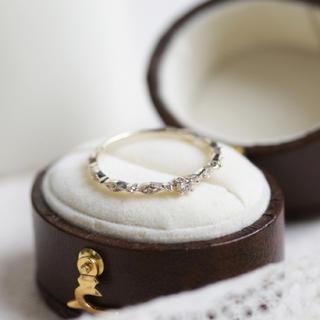 スタージュエリー(STAR JEWELRY)の現行品 cuicui キュイキュイ K10 0.05 ダイヤモンドリング 9号(リング(指輪))