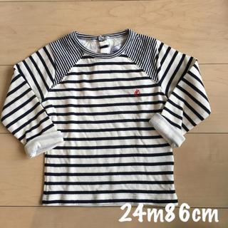 プチバトー(PETIT BATEAU)のプチバトー チュビックボーダー 長袖Tシャツ(シャツ/カットソー)