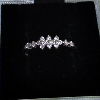 ホワイトゴールド  ダイヤモンドリング  10号(リング(指輪))