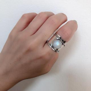 ムーンストーン シルバー ワイドリング(リング(指輪))
