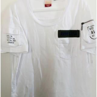 アヴィレックス(AVIREX)のAVIREX レディース Tシャツ 半袖 Mサイズ 白(Tシャツ(半袖/袖なし))