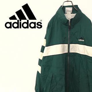 アディダス(adidas)の【90s】アディダス ナイロンジャケット トラックジャケット ゆるだぼ 古着(ナイロンジャケット)