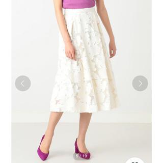 デミルクスビームス(Demi-Luxe BEAMS)のDemi-Luxe BEAMS / フラワージャカードスカート(ひざ丈スカート)
