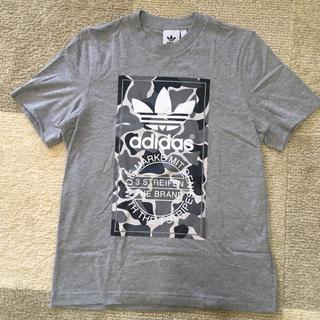 アディダス(adidas)の☆新品☆ アディダス Tシャツ グレー迷彩 Sサイズ♪(Tシャツ/カットソー(半袖/袖なし))