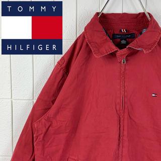 トミーヒルフィガー(TOMMY HILFIGER)のトミーヒルフィガー ゆるだぼ 90s 刺繍ロゴ オーバーサイズ スイングトップ(ブルゾン)