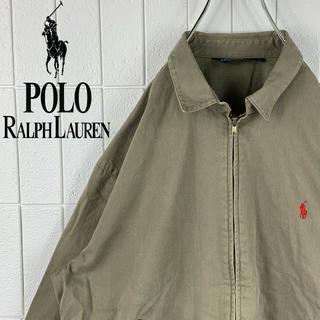 ポロラルフローレン(POLO RALPH LAUREN)のポロ ラルフローレン 刺繍ロゴ ゆるだぼ 90s オーバーサイズ スイングトップ(ブルゾン)