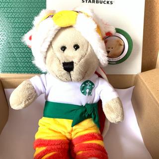 スターバックスコーヒー(Starbucks Coffee)の★海外限定★ スターバックス 香港 べアリスタ 獅子舞 ぬいぐるみ(ぬいぐるみ)