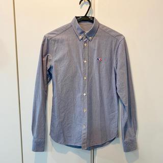 メゾンキツネ(MAISON KITSUNE')のMaison Kitsune ボタンダウンシャツ ネイビー サイズ36(シャツ)