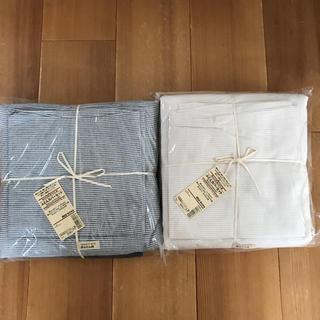 ムジルシリョウヒン(MUJI (無印良品))の2セット 新品 無印良品  ふとんカバーセット シングルサイズ(シーツ/カバー)