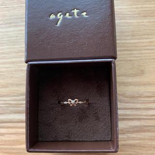 アガット(agete)のagete 10K リング ダイヤ リボン(リング(指輪))