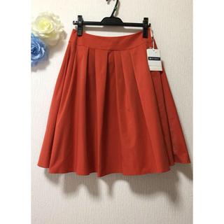 エムズグレイシー(M'S GRACY)の新品未使用☆エムズグレイシー スカート 40 オレンジ系 フレアースカート(ひざ丈スカート)