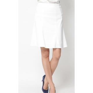 クイーンズコート(QUEENS COURT)の再値下げ✧新品未使用タグ付き QUEENS COURT 白スカート(ひざ丈スカート)