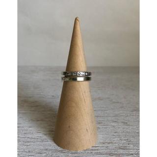 ジルコニアのデザインピンキーリング(リング(指輪))
