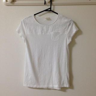ザラキッズ(ZARA KIDS)のレース切り替えTシャツ(Tシャツ(半袖/袖なし))