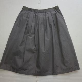 イネド(INED)のイネド/タックフレア春夏スカートS(ひざ丈スカート)