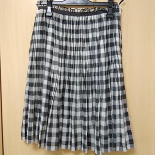 イネド(INED)のINED チェック柄スカート(ひざ丈スカート)