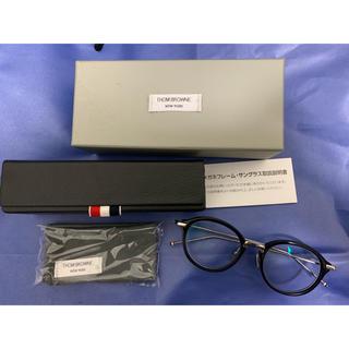 トムブラウン(THOM BROWNE)のトムブラウン 眼鏡 丸眼鏡 黒縁眼鏡 TB-011 49 金具シルバー(サングラス/メガネ)