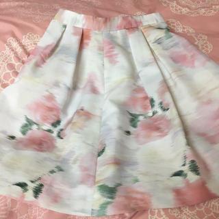 リランドチュール(Rirandture)のリランドチュール☆ぼかし花柄スカート0ピンク系(ミニスカート)