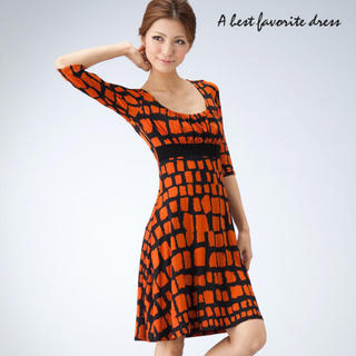 ビーシービージーマックスアズリア(BCBGMAXAZRIA)のLA selection Mary orange dress s (ひざ丈ワンピース)