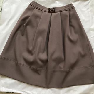 トゥービーシック(TO BE CHIC)のTO BE CHIC ふんわりスカート新品未使用品サイズ40 ブラウン系(ひざ丈スカート)