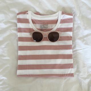 ロキエ(Lochie)のピンクボーダーTシャツ(Tシャツ(長袖/七分))