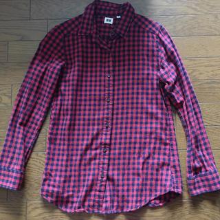 ユニクロ(UNIQLO)の赤 チェックシャツ ギンガムチェック UNIQLO(シャツ)