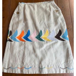 ミナペルホネン(mina perhonen)のmina perhonen  bird スカート (ひざ丈スカート)