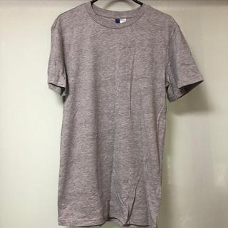 エイチアンドエム(H&M)のグレー メンズシンプルTシャツ(Tシャツ/カットソー(半袖/袖なし))