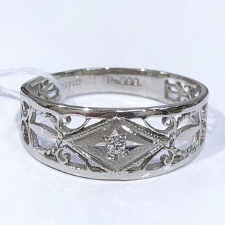 PT900 ダイヤモンド 透かしリング(リング(指輪))
