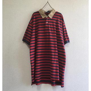 ポロラルフローレン(POLO RALPH LAUREN)の古着 ポロ ラルフローレン オーバーサイズ ポロシャツ big ボーダー(ポロシャツ)