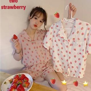 可愛い いちご柄  パジャマ 新品   上下セット