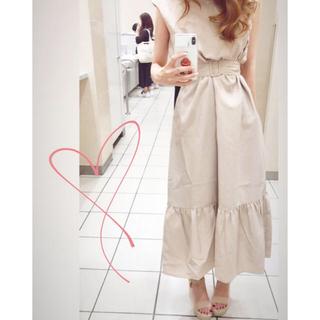 natural couture - ベルト付きノースリワンピース