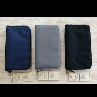 ムジルシリョウヒン(MUJI (無印良品))の♡無印良品 パスポートケース ブラック♡(旅行用品)