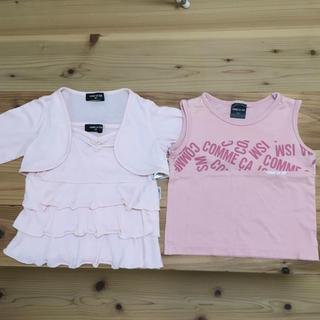 コムサイズム キャミソール&Tシャツセット サイズ90