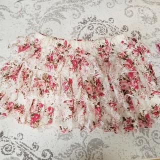 リズリサ(LIZ LISA)の花柄フリルスカート(ミニスカート)