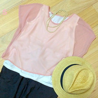 ジーユー(GU)のレイヤードシャツ 未使用品(シャツ/ブラウス(半袖/袖なし))