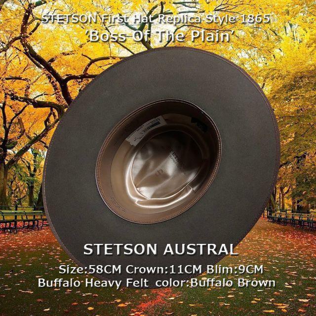 Borsalino(ボルサリーノ)のSTETSON★ステットソン・アウストラル・ブラウン【Buffalo】58CM メンズの帽子(ハット)の商品写真