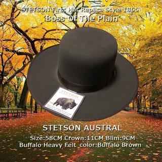 ボルサリーノ(Borsalino)のSTETSON★ステットソン・アウストラル・ブラウン【Buffalo】58CM(ハット)