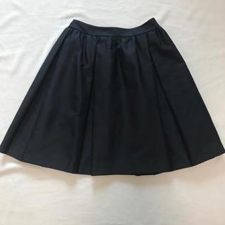 ルネ(René)のルネ ネイビースカート 36 TISSUE高級生地 松屋銀座購入極美品値引き(ひざ丈スカート)