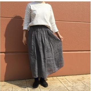 ムジルシリョウヒン(MUJI (無印良品))の無印良品 (MUJI)  *フレンチリネンイージーギャザースカート*(ロングスカート)