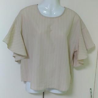 ジーユー(GU)のGU  袖フリルブラウス(シャツ/ブラウス(半袖/袖なし))