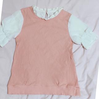 シマムラ(しまむら)のピンク♡フリルカットソー(カットソー(半袖/袖なし))