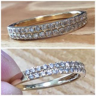 シンプル!美品‼︎✨ダイヤモンド リング K18ゴールド 指輪 約17号(リング(指輪))