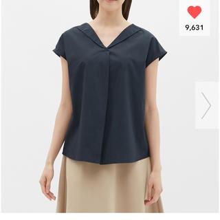 ジーユー(GU)のGU オープンネックシャツ(半袖)LR 半袖(シャツ/ブラウス(半袖/袖なし))