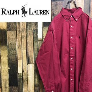 ラルフローレン(Ralph Lauren)の【激レア】ラルフローレン☆USA製ワンポイント刺繍ロゴ入りビッグシャツ 90s(シャツ)
