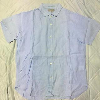 マーガレットハウエル(MARGARET HOWELL)の15SS MARGARET HOWELL アイリッシュリネンシャツ Blue M(シャツ)